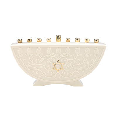 "Lenox ""Judaic Blessings"" Porcelain Menorah, , default"