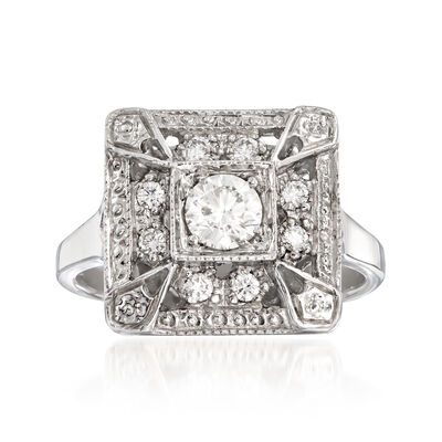 C. 2000 Vintage .47 ct. t.w. Diamond Cocktail Ring in 14kt White Gold, , default