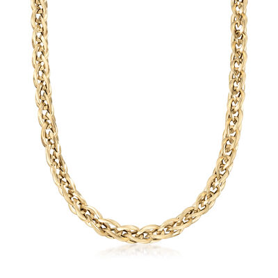 Italian 14kt Yellow Gold Curb Link Necklace, , default