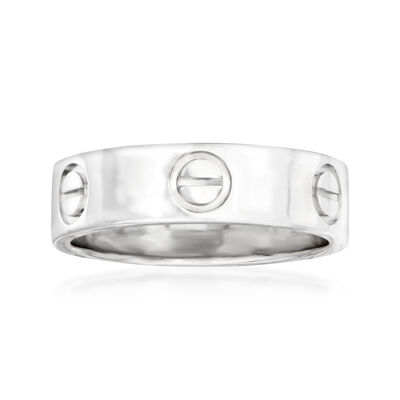 "C. 1996 Vintage Cartier ""Love"" 18kt White Gold Ring"