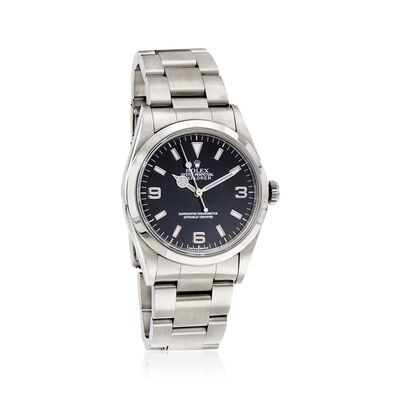 Pre-Owned Rolex Explorer Men's 36mm Automatic Stainless Steel Watch, , default