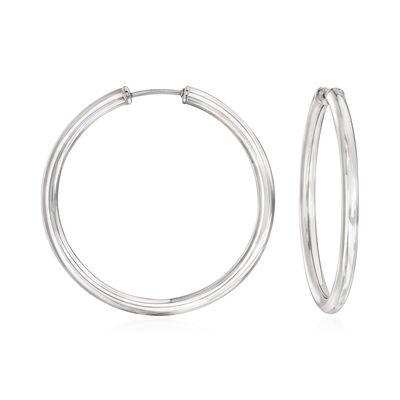 Sterling Silver Medium Endless Hoop Earrings