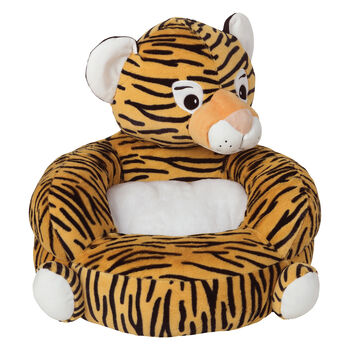 Children's Plush Tiger Character Chair, , default