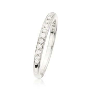.25 ct. t.w. Diamond Wedding Ring in 18kt White Gold, , default