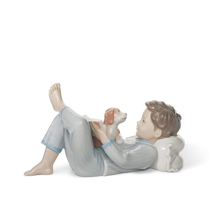 "Lladro ""Shall I Read You a Story?"" Porcelain Figurine, , default"