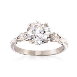 C. 1960 Vintage 2.83 ct. t.w. Diamond Three-Stone Ring in Platinum, , default