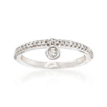 .21 ct. t.w. Diamond Dangle Ring in 14kt White Gold, , default