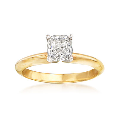 1.01 Carat Diamond Engagement Ring in 14kt Yellow Gold