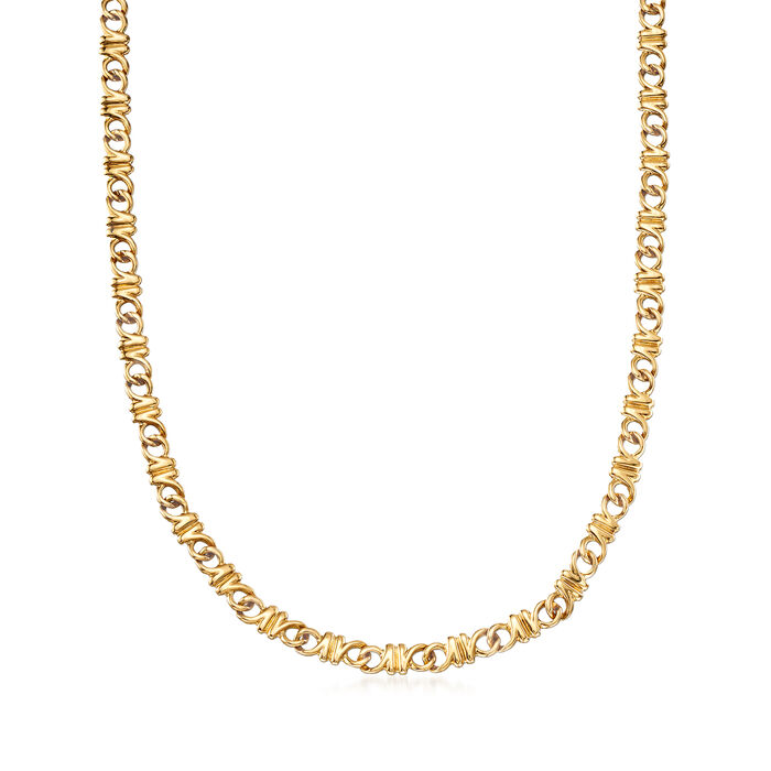 C. 1990 Vintage Tiffany Jewelry 18kt Yellow Gold Necklace