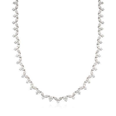 10.20 ct. t.w. Diamond Necklace in 18kt White Gold, , default