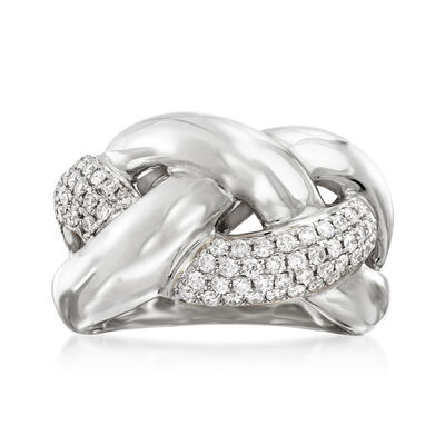 .63 ct. t.w. Diamond Braided Ring in 14kt Whit Gold, , default
