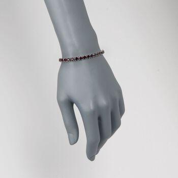 """18.00 ct t.w. Garnet Tennis Bracelet in Sterling Silver. 7.25"""", , default"""