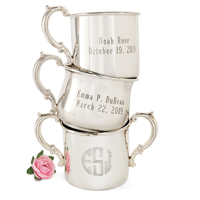 Baby's Empire Sterling Silver Personalized Bulged Cup