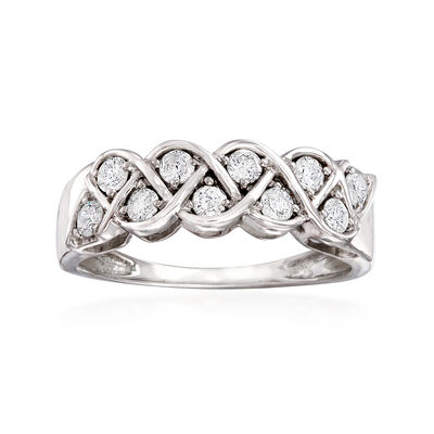 .50 ct. t.w. Diamond Twist Ring in 14kt White Gold