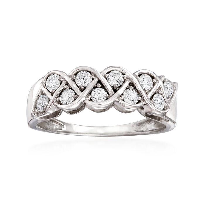 .50 ct. t.w. Diamond Twist Ring in 14kt White Gold