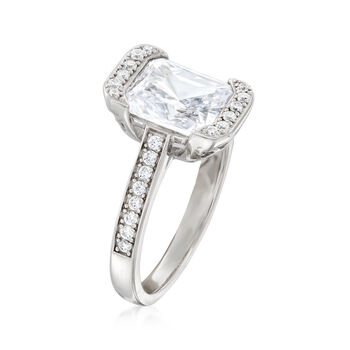 2.90 ct. t.w. CZ Rectangle Ring in Sterling Silver