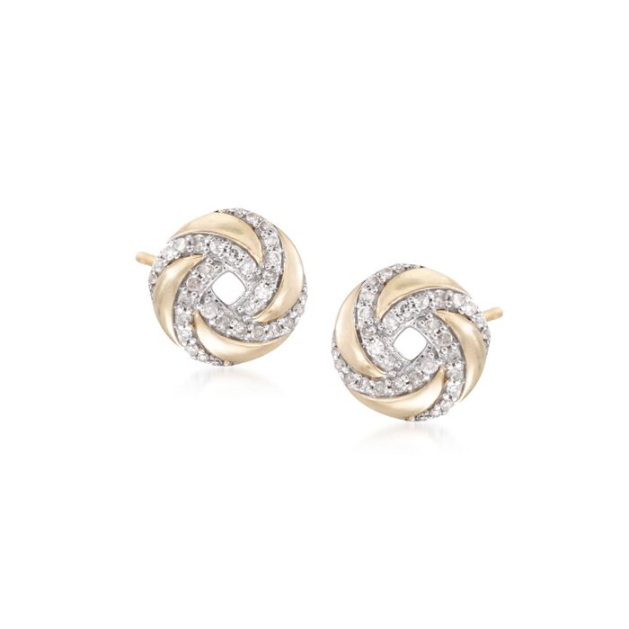 .25 ct. t.w. Diamond Swirl Stud Earrings in 14kt Yellow Gold, , default
