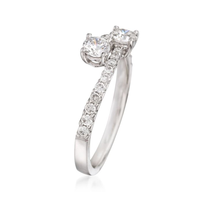 .75 ct. t.w. Diamond Two-Stone Ring in 14kt White Gold