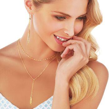 Italian 14kt Yellow Gold Layered Tassel Necklace, , default