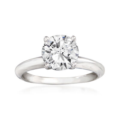 1.58 Carat Diamond Solitaire Ring in 14kt White Gold