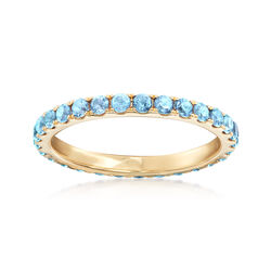 1.00 ct. t.w. Blue Topaz Eternity Band in 14kt Yellow Gold, , default