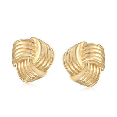 Italian 14kt Yellow Gold Love Knot Earrings, , default