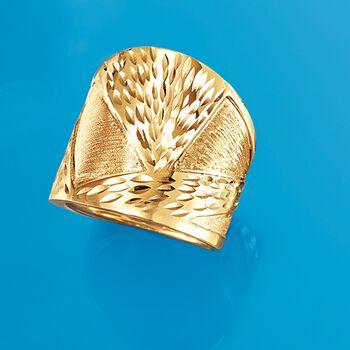 Italian 14kt Yellow Gold Ring. Size 8, , default