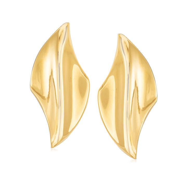 Italian 18kt Yellow Gold Clip-On Earrings