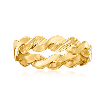 Italian 14kt Yellow Gold Twist Ring