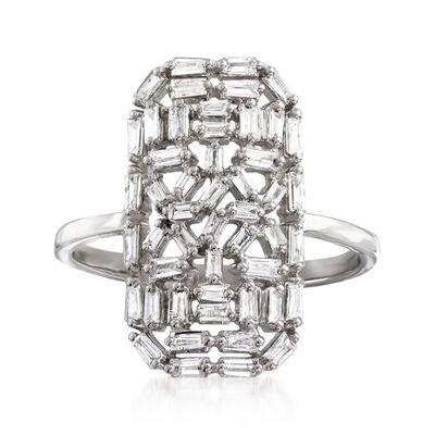 .57 ct. t.w. Diamond Rectangular Cluster Ring in 14kt White Gold