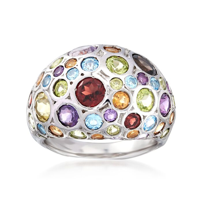 3.75 ct. t.w. Multi-Stone Dome Ring in Sterling Silver, , default