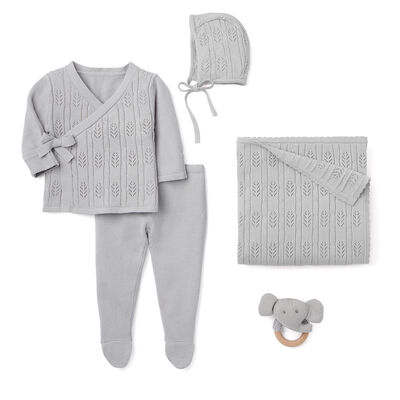 "Elegant Baby ""Coming Home"" 5-pc. Gray Newborn Set"