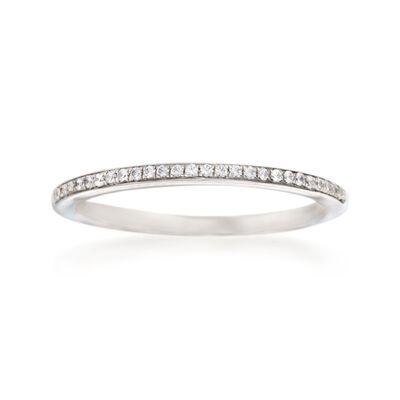 Simon G. .10 ct. t.w. Diamond Wedding Ring in 18kt White Gold, , default