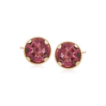 2.20 ct. t.w. Mystic Berry Quartz Stud Earrings in 14kt Yellow Gold, , default