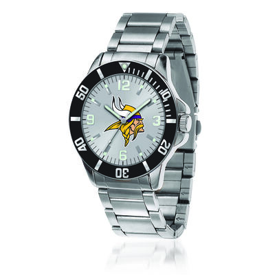 Men's 46mm NFL Minnesota Vikings Stainless Steel Key Watch