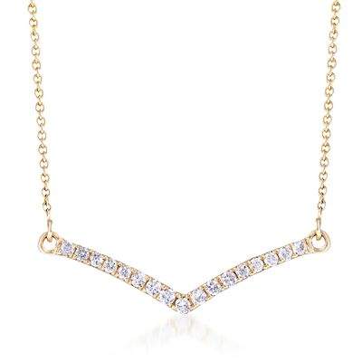 .25 ct. t.w. Diamond Chevron Necklace in 14kt Yellow Gold, , default