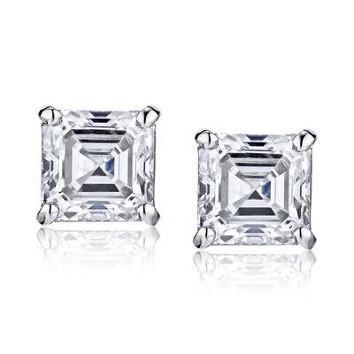 2.90 ct. t.w. Diamond Stud Earrings in 14kt White Gold, , default