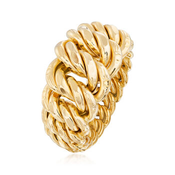 Italian 18kt Yellow Gold Americana-Link Ring