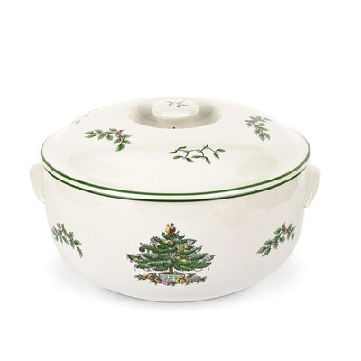 "Spode ""Christmas Tree"" Covered Casserole"