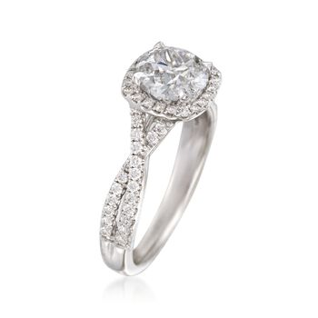 Henri Daussi 1.81 ct. t.w. Certified Diamond Engagement Ring in 18kt White Gold