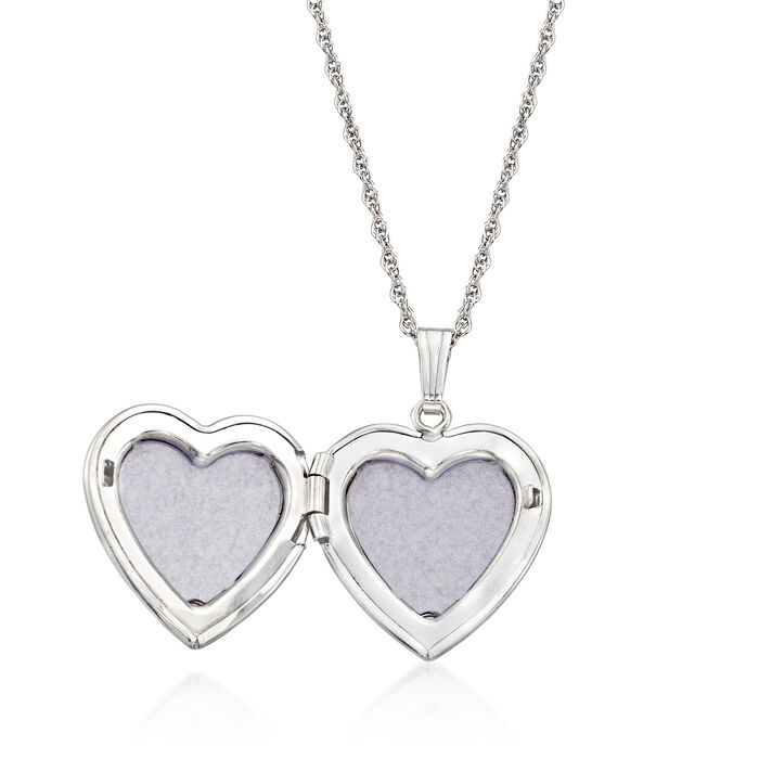 Personalized Sterling Silver Engraved Heart Locket Pendant Necklace