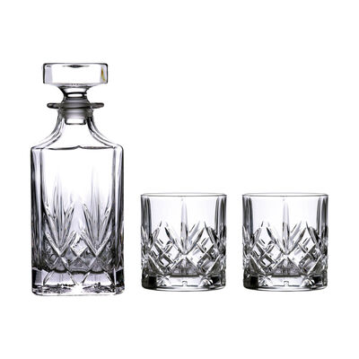 """Waterford Crystal """"Markham"""" Stacking Set of Two Glasses and Decanter , , default"""