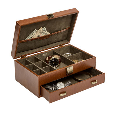 "Mele & Co. ""Weston"" Wooden Locking Jewelry Box, , default"