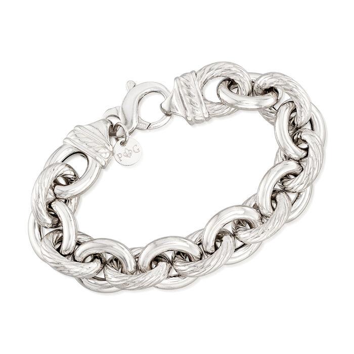 "Phillip Gavriel ""Italian Cable"" Sterling Silver Cable-Link Bracelet. 7.5"", , default"