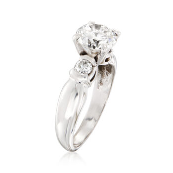 C. 2000 Vintage 2.30 ct. t.w. Diamond Engagement Ring in 14kt White Gold. Size 7