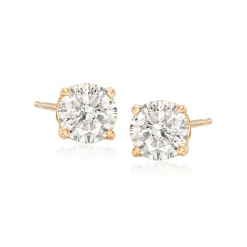 1.00 ct. t.w. Diamond Stud Earrings in 14kt Yellow Gold, , default