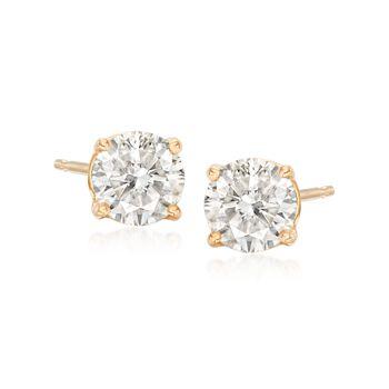 1.00 ct. t.w. Diamond Stud Earrings in 14kt Yellow Gold, , default