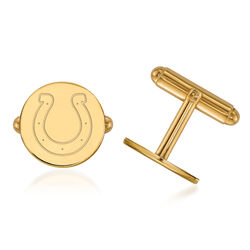 14kt Yellow Gold NFL Indianapolis Colts Cuff Links, , default