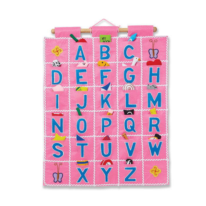 Pockets of Learning Abc Pink Wall Hanging Chart