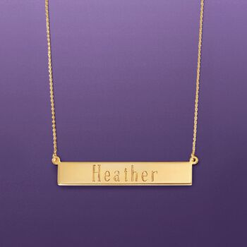 14kt Yellow Gold Name Bar Necklace
